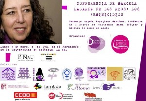 Cartel definitivo Conferencia Marcela Lagarde